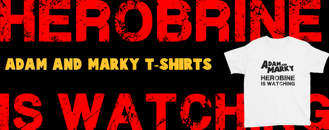 ADAM AND MARKY HEROBRINE IS WATCHING 1263 x 500 t-shirts
